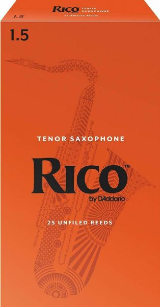 Rico 1.5 Strength Reeds for Tenor Sax (Pack of 25) - RKA2515